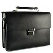 Кожаный портфель CK H-2602A black