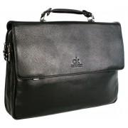 Кожаный портфель CK 8865-5 black