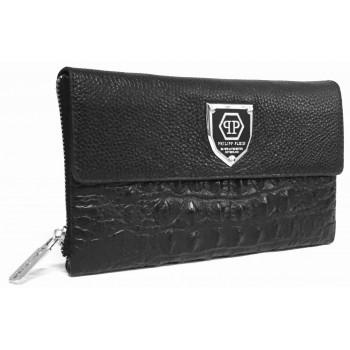 Мужской клатч PP 674-5 croco black