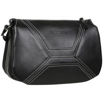Кожаная сумка кросс-боди Accordi Agata black