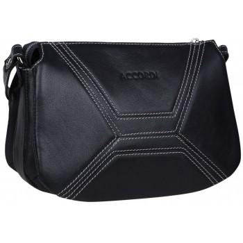 Кожаная сумка кросс-боди Accordi Agata blue