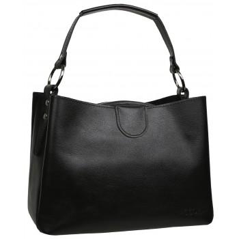 Женская кожаная сумка Accordi Edgarda black