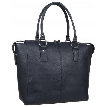 Женская кожаная сумка Accordi Noemi relief blue