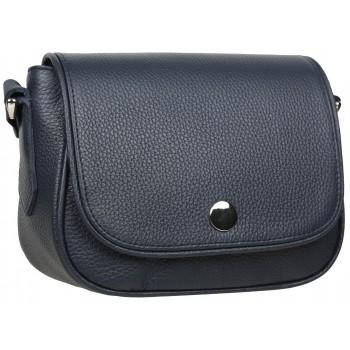 Кожаная сумка кросс-боди Accordi Virginia relief blue