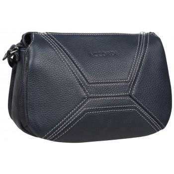 Кожаная сумка кросс-боди Accordi Agata relief blue