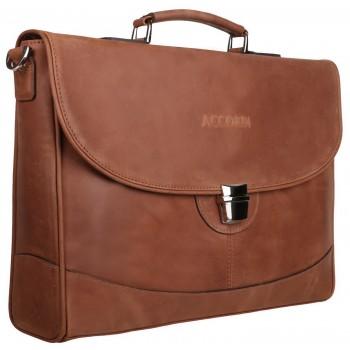 Кожаный портфель Accordi Alberto brown