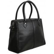 Женская кожаная сумка Accordi Carla black