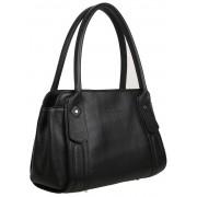 Женская кожаная сумка Accordi Delfina black