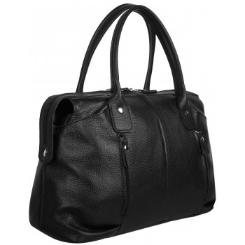 Женская кожаная сумка Accordi Fernanda black