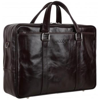 Деловая сумка Accordi Leonardo dark brown