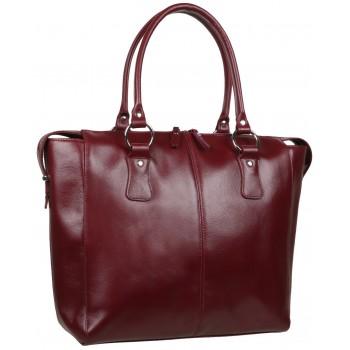 Женская кожаная сумка Accordi Noemi bordo
