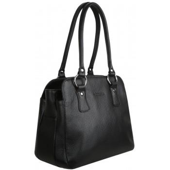 Женская кожаная сумка Accordi Ottavia black