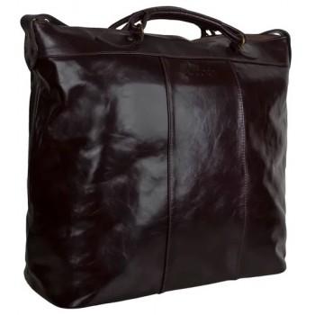 Кожаная сумка Accordi Pilot dark brown