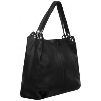 Женская кожаная сумка Accordi Simona black