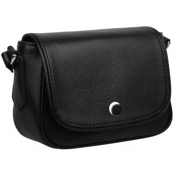 Кожаная сумка кросс-боди Accordi Virginia relief black