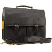 Кожаный портфель Ashwood Leather Gareth dark brown