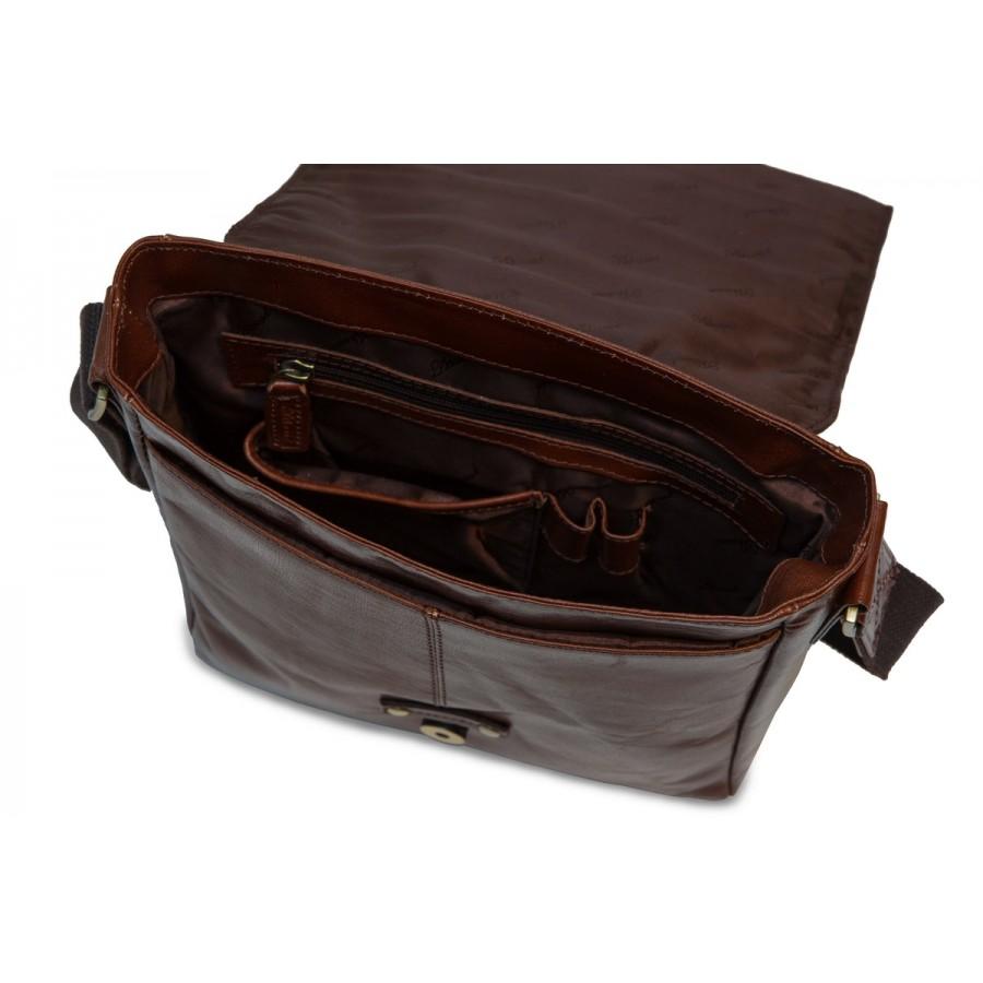 1a6f78f0bcb7 CarryBag - Кожаная сумка для IPad Ashwood Leather Murphy каштанового ...
