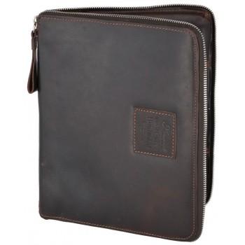 Кожаная папка Ashwood Leather 1660 brown