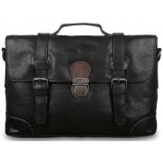Кожаный портфель Ashwood Leather 4553 black