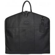 Кожаный портплед Ashwood Leather 8145 black