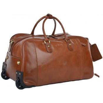 Дорожная сумка на колесах Ashwood Leather Albert chestnut brown