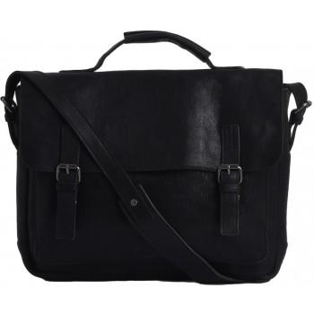 Кожаный портфель Ashwood Leather Bradley black