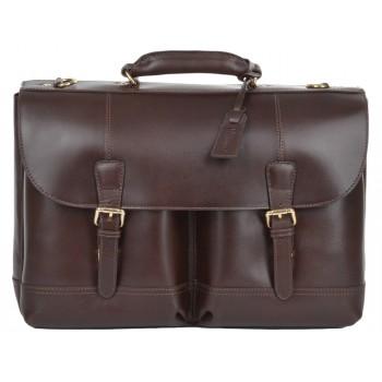 Кожаный портфель Ashwood Leather Henry brown