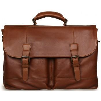 Кожаный портфель Ashwood Leather Henry honey