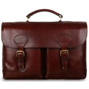 Кожаный портфель Ashwood Leather Jon brandy