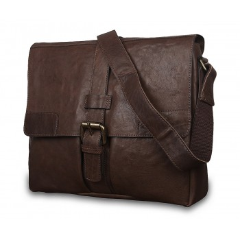 Мессенджер Ashwood Leather Cyrus dark taupe