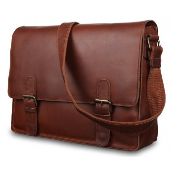 Мессенджер Ashwood Leather Thales brown burn