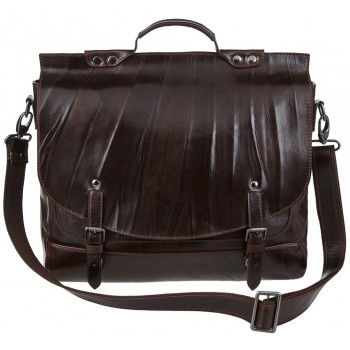Кожаный портфель Alexander-TS PF 0001 brown nikel