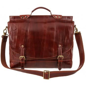 Кожаный портфель Alexander-TS PF 0001 cognac