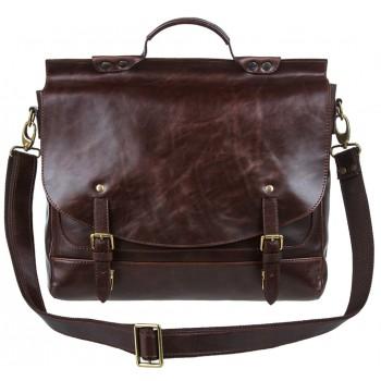 Кожаный портфель Alexander-TS PFP 0001 brown latun
