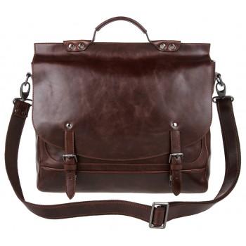 Кожаный портфель Alexander-TS PFP 0001 brown nikel