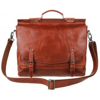 Кожаный портфель Alexander-TS PFP 0001 cognac