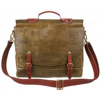 Кожаный портфель Alexander-TS PFP 0001 olive
