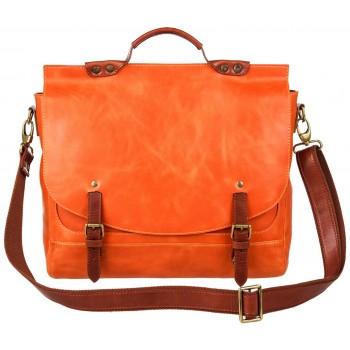 Кожаный портфель Alexander-TS PFP 0001 orange