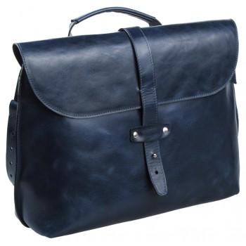 Кожаный портфель Alexander-TS SW11 blue