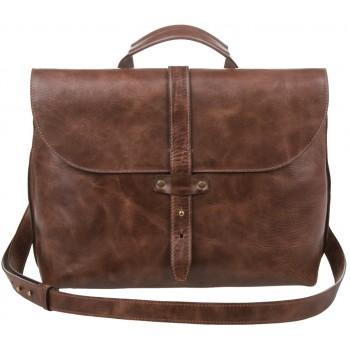 Кожаный портфель Alexander-TS SW11 coffe