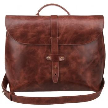 Кожаный портфель Alexander-TS SW11 cognac