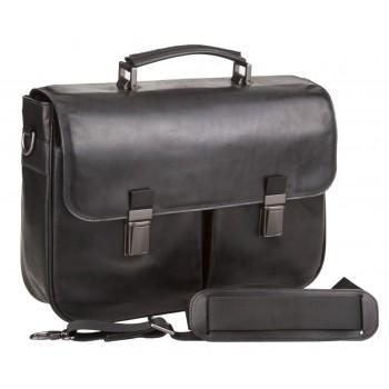 Кожаный портфель Alexander-TS PF0014/1 black