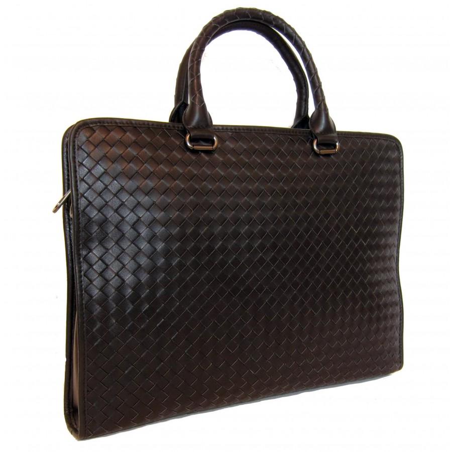 249aae8bec46 Качественная копия мужской кожаной сумки Bottega Veneta 3276 черного цвета