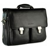 Кожаный портфель GA 5095-2 black