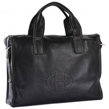 Кожаная сумка HM 2804 black