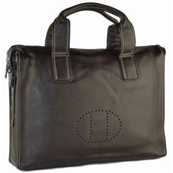 Кожаная сумка HM 2804 brown