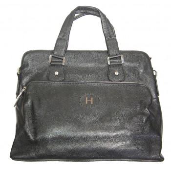 Кожаная сумка HM 6004 black