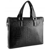 """Деловая сумка """"под крокодила"""" MB 7251-1 black"""