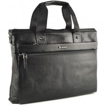 Кожаная сумка P1023 black