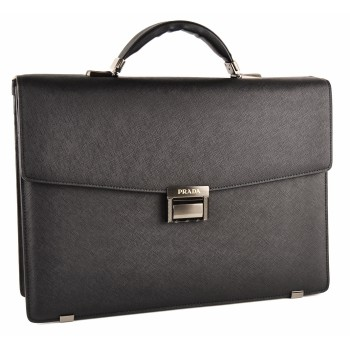 Кожаный портфель P8053 black